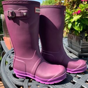 Girls Hunter Boots Size 4